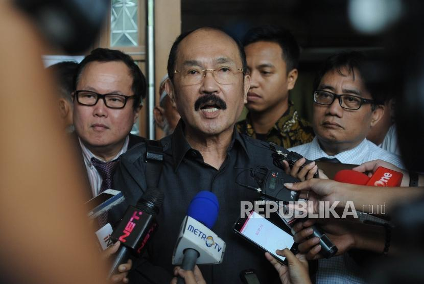 Fredrich Yunadi, the defendant in the case of obstructing investigation against his former client Setya Novanto in e-ID card graft case.