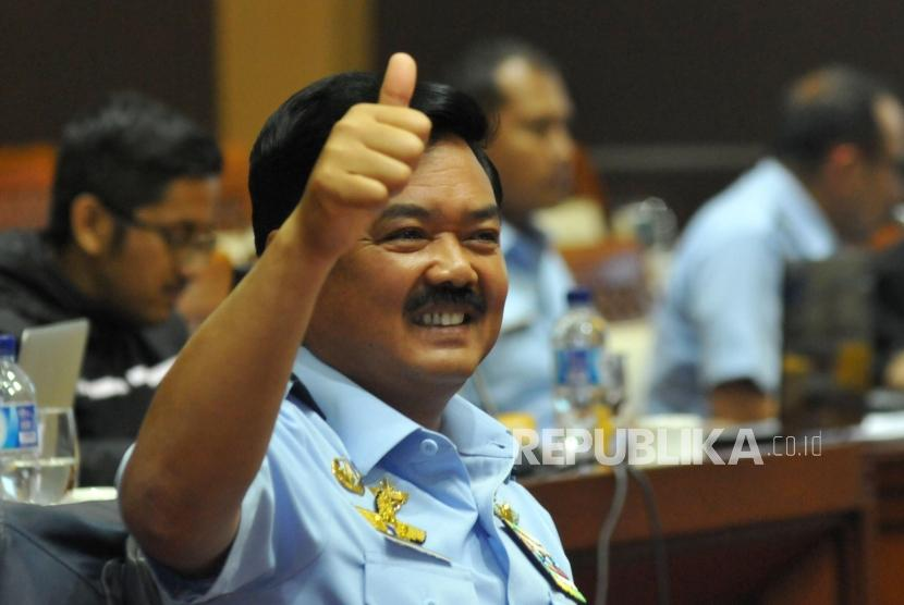 Marshal Hadi Tjahjanto undergo fit and proper test at the House of Representatives on Wednesday (December 6).