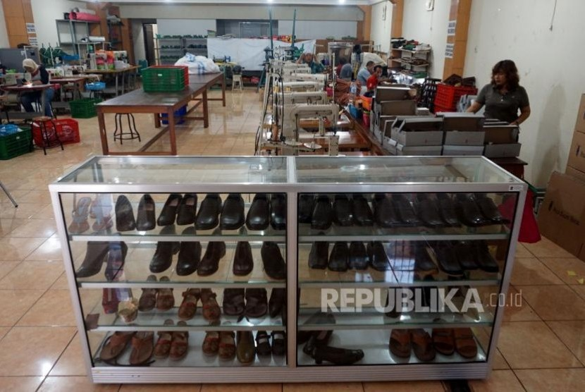 Shoes produced by people living in Dolly, ex-red light district in Surabaya, East Java.