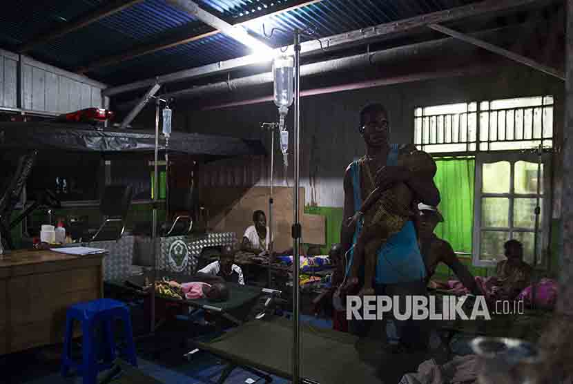 Patients hospitalized in Agats District hospital, Asmat, Papua, on Monday (January 22).