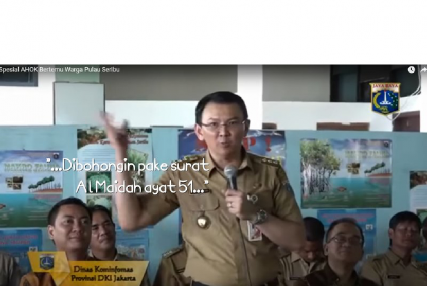 A petition at change.org urged Jakarta Governor Basuki Tjahaja Purnama (Ahok) to apologize for religious blasphemy citing The Holy Quran Surah Al Maidah verse 51 as a false guidance for Muslim in choosing a leader. Ahok said his statement was to remind the