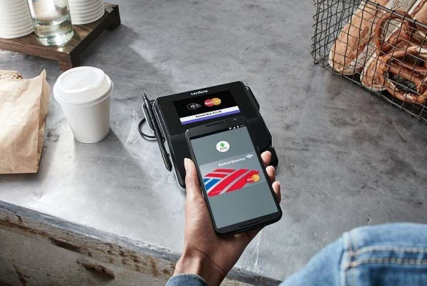 Android pay. Ilustrasi