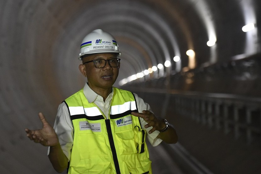 PT Mass Rapid Transit Jakarta president director, William Sabandar