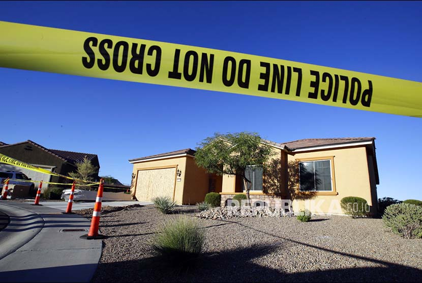 The police line crossed the residence of Stephen Paddock of shooting in Las Vegas on Tuesday (October 3).