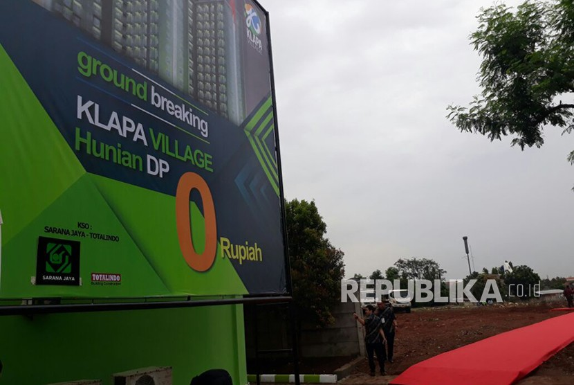 Klapa Village will be the first apartment built to realize the zero down payment housing program.
