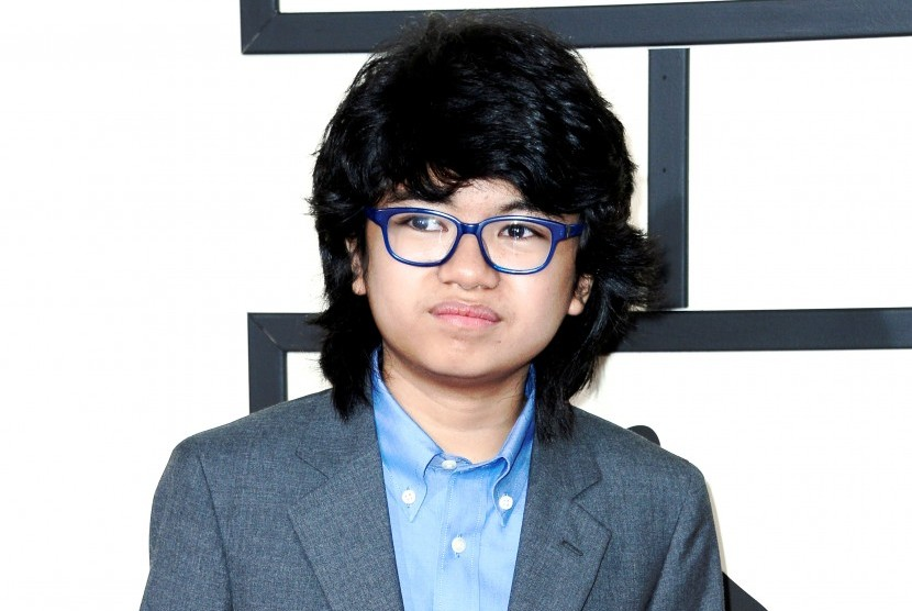Joey Alexander saat menghadiri Grammy Awards ke-58 di Staples Center, Los Angeles, (16/2).