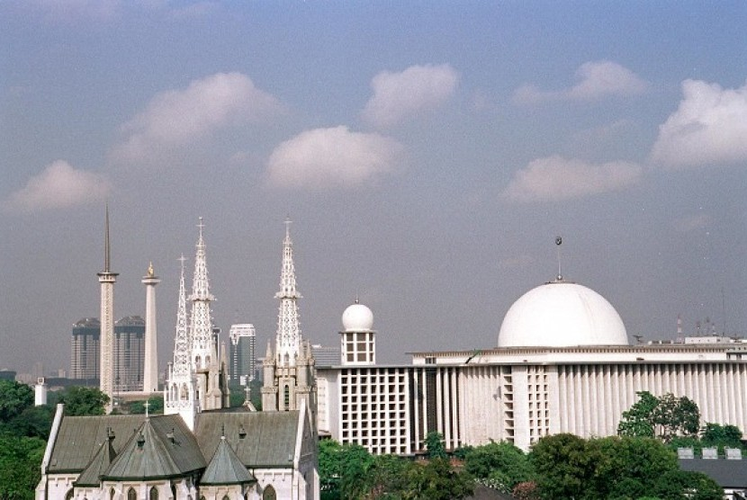 Kathedral Church is located not far from Istiqlal Mosque in Jakarta, Indonesia. (file photo)