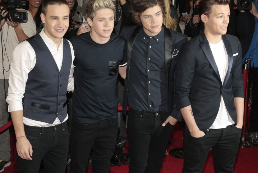 Members of the band One Direction (L-R), Liam Payne, Niall Horan, Harry Styles and Louis Tomlinson, arrive for Fox's
