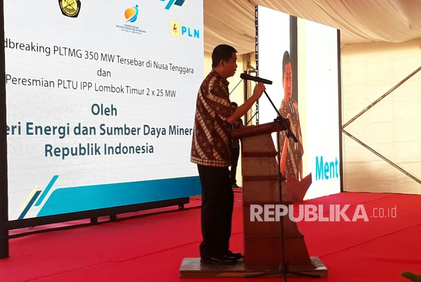 Energy and Mineral Resources (ESDM) Minister Ignasius Jonan inaugurated 350 megawatts (MW) power plant projects in West Nusa Tenggara (NTB) and East Nusa Tenggara (NTT), Mataram, Friday.