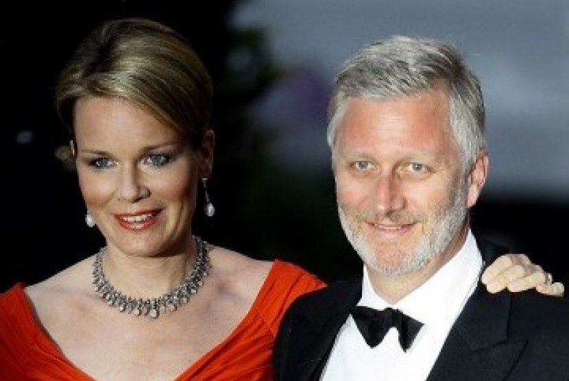 Belgian King Philippe Léopold Louis Marie and Queen Mathilde.