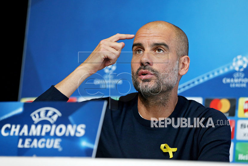Pep Guardiola pelatih Man City