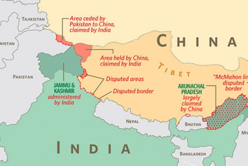 China and India border.