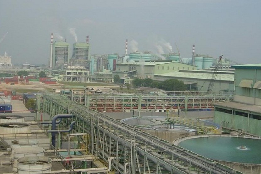 Riau Andalan Pulp and Paper (RAPP) industry in Pelalawan, Riau. (photo file)