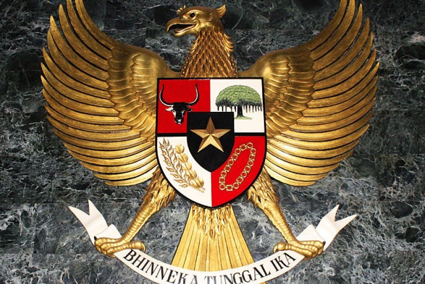 The coat of arms of Indonesia, Garuda Pancasila (illustration)