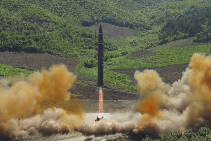 North Korea carried out two intercontinental ballistic missiles tests in July.